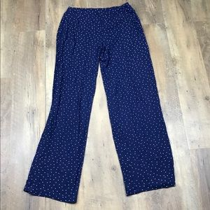 Soma Blue Polka Dot Lounge Pajama Pants
